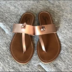 Rose Gold size 8 sandals